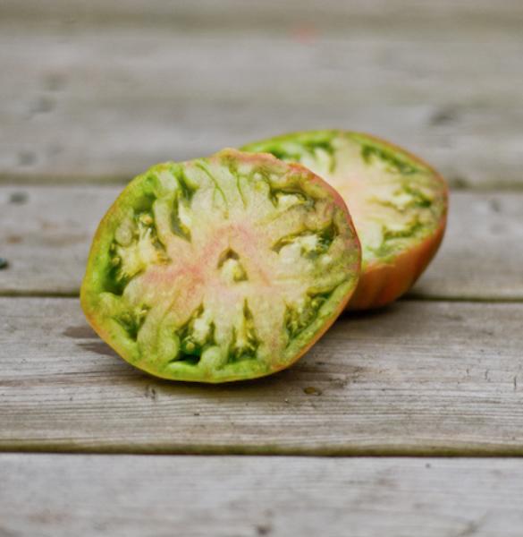 Tomate Everett's Rusty Oxheart (Lycopersicon esculentum) | Jardin des vie-la-joie | Artisan semencier
