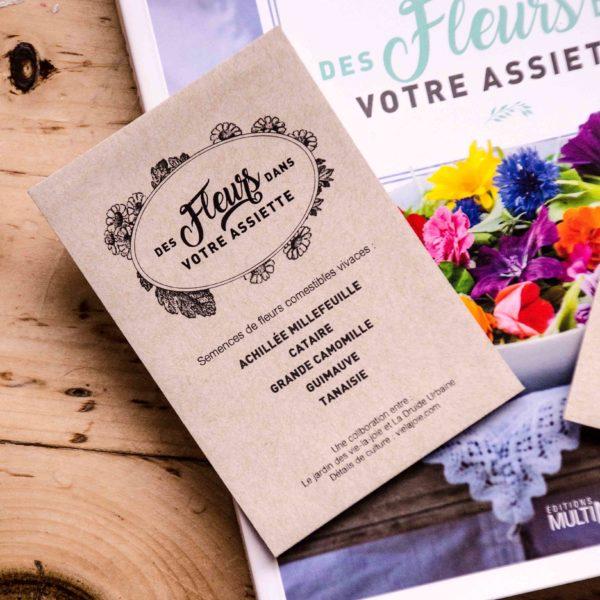 Livre ''Des fleurs dans votre assiette''