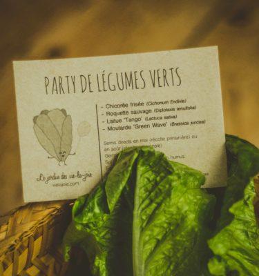 Party de légumes verts | Le jardin des vie-la-joie| Artisan semencier du Québec
